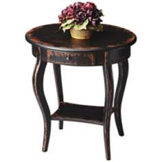 Midnight Rose Oval Accent Table