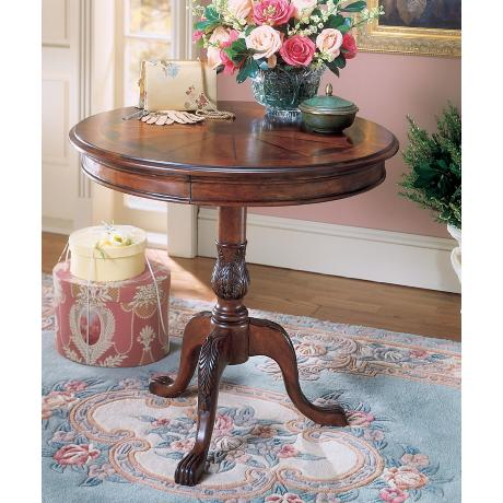 Plantation Cherry Round Pedestal Table