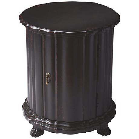 Plum Black Drum Table