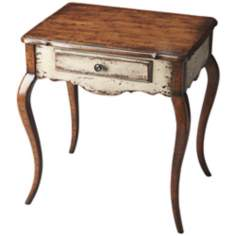 Appaloosa Red Birch Wood Accent Table