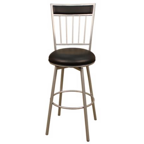 "American Heritage Alliance Silver 24"" High Counter Stool"