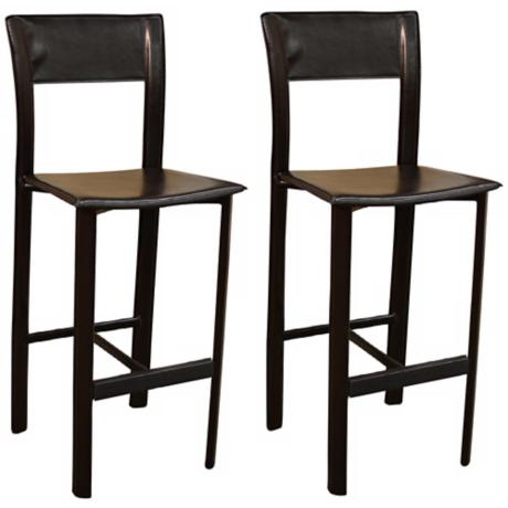 "American Heritage Alto Set of Two 30"" High Bar Stools"