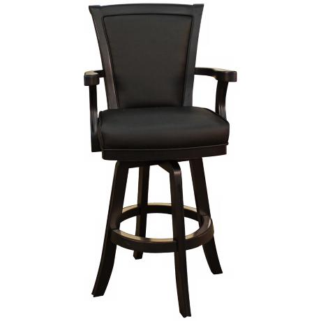"American Heritage Auburn Antique Black 30"" High Bar Stool"