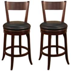"American Heritage Auburn Set of 2 Tudor 30"" High Bar Stools"