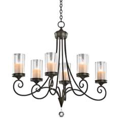 "Kichler Lara Shadow Bronze 36"" Wide 6-Light Chandelier"