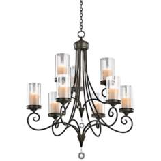 "Kichler Lara Shadow Bronze 32"" Wide 9-Light Chandelier"