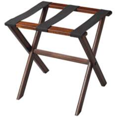 Plantation Cherry Finish Wood Luggage Rack