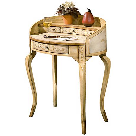 Tuscan Cream Wood Ladies Writing Desk
