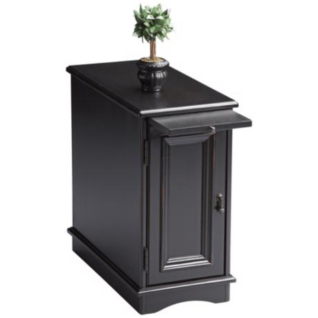 Black Licorice Chairside Chest
