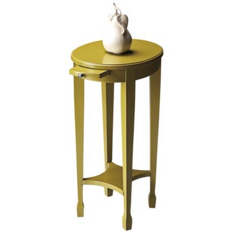 Pear Green Pull Tray Accent Table