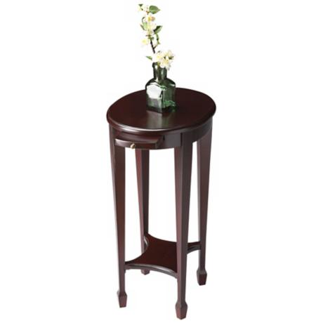 Cordovan Pull Tray Accent Table