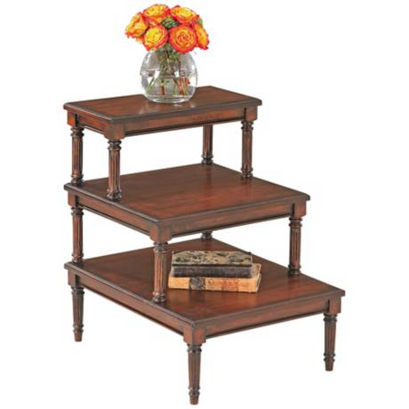 Plantation Cherry Step Table