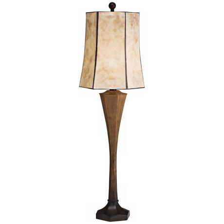 Kichler Maddox Mica Shade Distressed Console Lamp