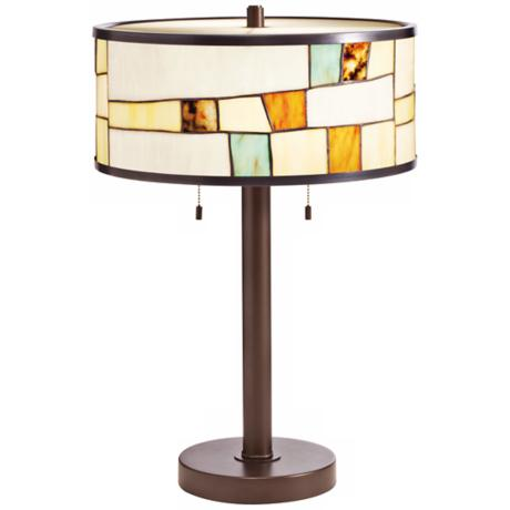 Kichler Mihaela Tiffany Style Shade Bronze Table Lamp