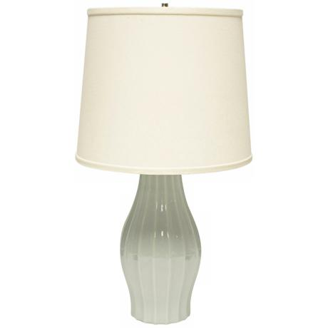 Haeger Potteries Mist Fluted Ceramic Table Lamp