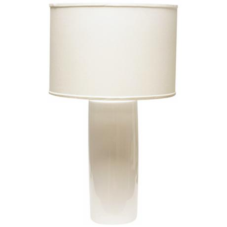 Haeger Potteries Cylinder White Table Lamp