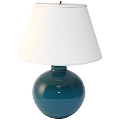 Haeger Potteries Ocean Blue Bristol Large Ceramic Table Lamp