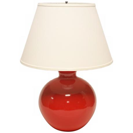 Haeger Potteries Red Bristol Large Ceramic Table Lamp