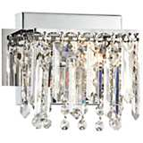 "Possini Euro Design Hanging Crystal 7 3/4"" Wide Bath Light"