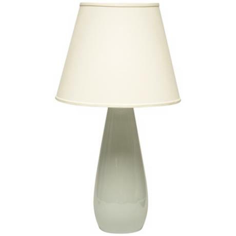Haeger Potteries Mist Ceramic Tear Drop Table Lamp