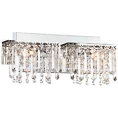 "Possini Euro Design Hanging Crystal 16 1/2"" Wide Bath Light"