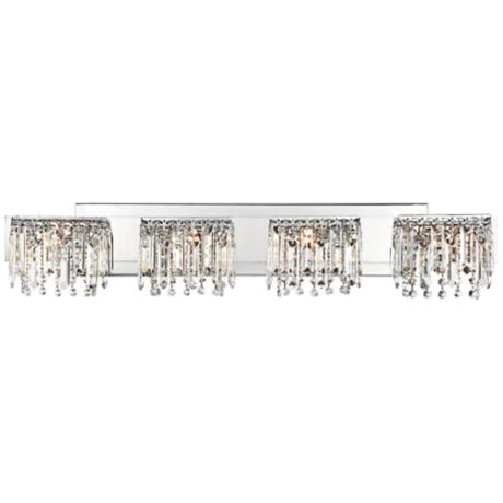 "Possini Euro Design Hanging Crystal 33 3/4"" Wide Bath Light"
