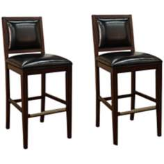 "Set of 2 American Heritage Bryant Espresso 30"" Counter Stool"
