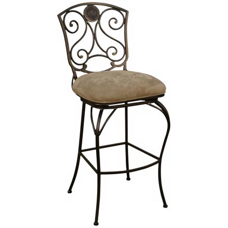 "American Heritage Canterbury Pepper 34"" High Tall Bar Stool"