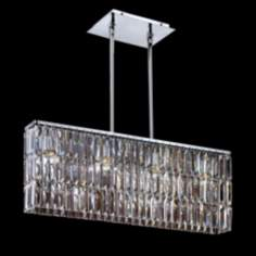 "Chrome Danube Crystal 24"" Wide Pendant Chandelier"