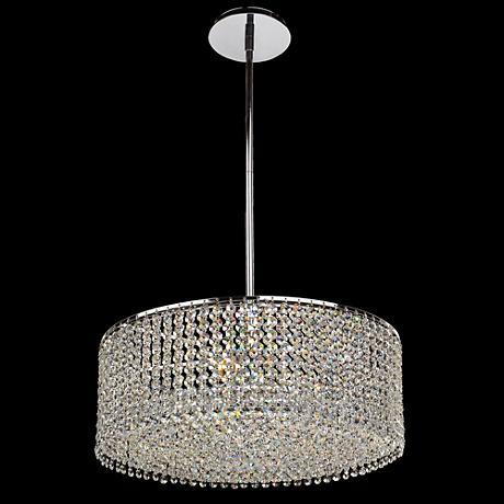 "Danube Crystal Double Layer 18"" Wide Pendant Chandelier"