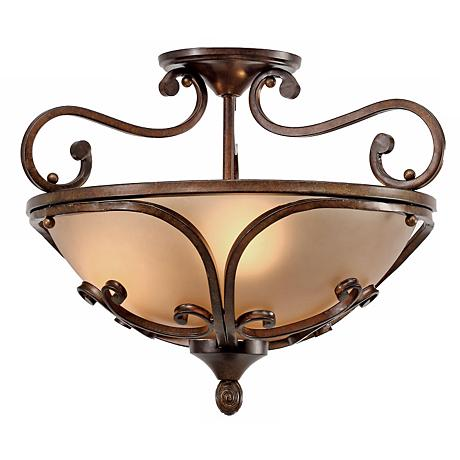 "Loretto Collection Russet Bronze 19"" Wide Ceiling Light"
