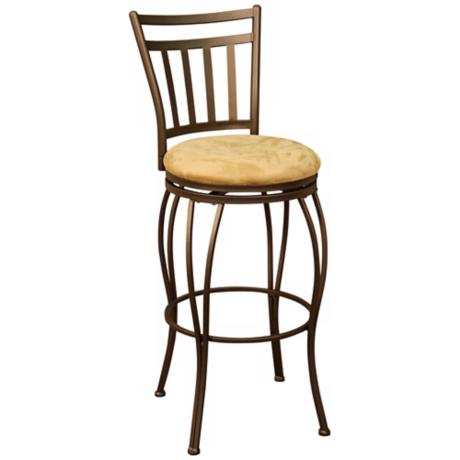 "American Heritage Folio Topaz 30"" High Swivel Bar Stool"