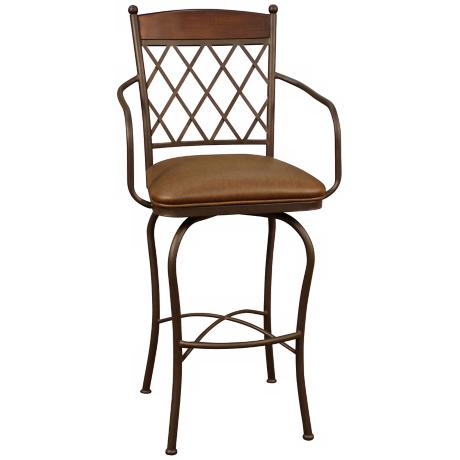 "American Heritage Havana Ginger Spice 34"" Swivel Bar Stool"