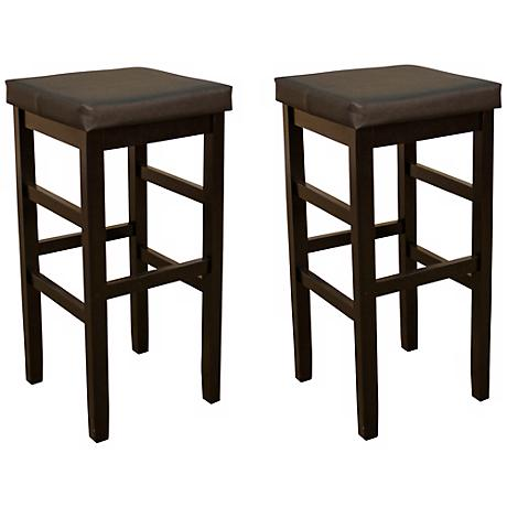 "American Heritage Set of 2 Jensen 24"" Backless Counter Stool"