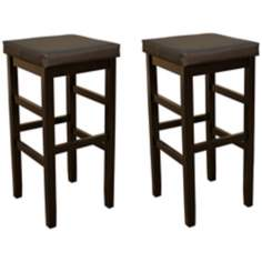 "American Heritage Set of 2 Jensen 30"" Backless Bar Stools"