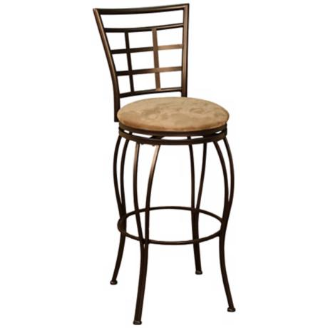 "American Heritage Licata Topaz 24"" High Swivel Counter Stool"
