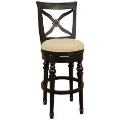 "American Heritage Livingston Antique Black 30"" Bar Stool"
