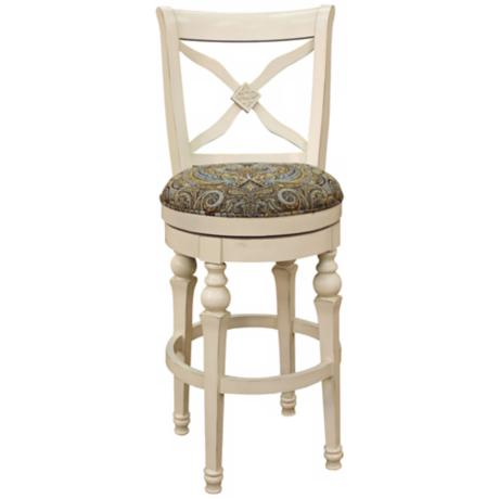 "American Heritage Livingston Antique White 30"" Bar Stool"