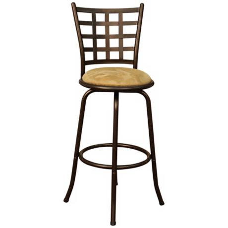 "American Heritage Madera Topaz 24"" Swivel Counter Stool"