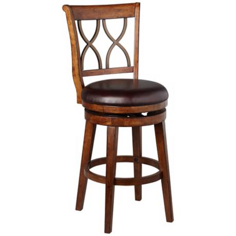 Hillsdale Reydon Walnut Swivel Bar Stool