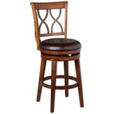 Hillsdale Reydon Walnut Swivel Counter Stool
