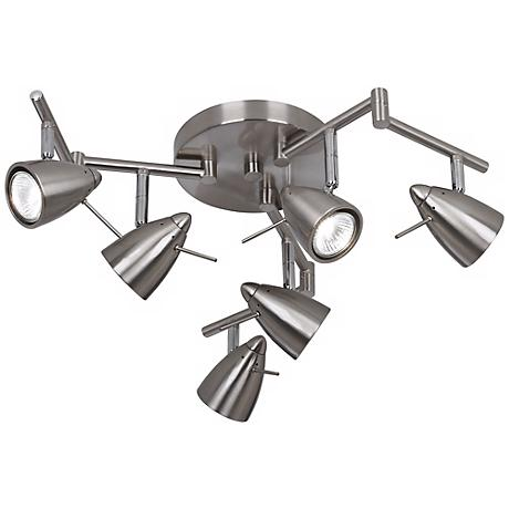 Pro Track® Axel Adjustable Six-Light Swing Arm Track Fixture