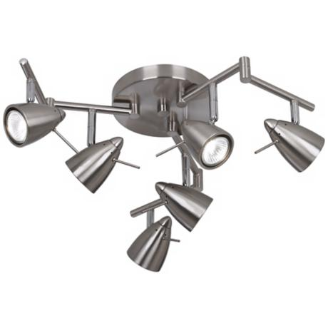 Pro Track® Adjustable Six-Light Swing Arm Track Fixture