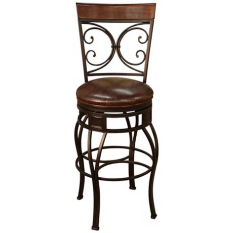 "American Heritage Treviso Pepper 34"" Swivel Bar Stool"