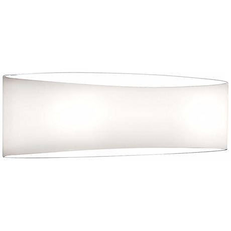 "Holtkoetter White Wrap 13 1/2"" Wide Wall Sconce"