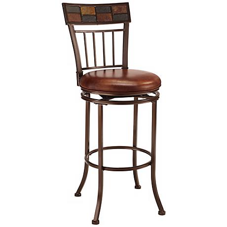 "Hillsdale Montero Copper Finish 24"" High Counter Stool"