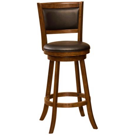 "Hillsdale Dennery Cherry Swivel 29"" Bar Stool"