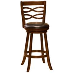 "Hillsdale Elkhorn Cherry Swivel 30"" High Bar Stool"