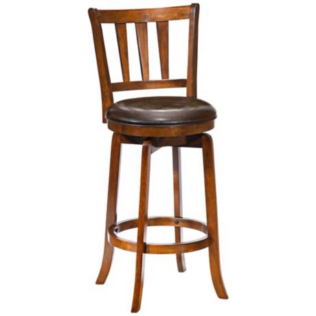 "Hillsdale Presque Isle Cherry Swivel 30"" High Bar Stool"