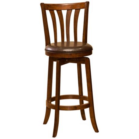"Hillsdale Savana Cherry Swivel 26"" High Counter Stool"